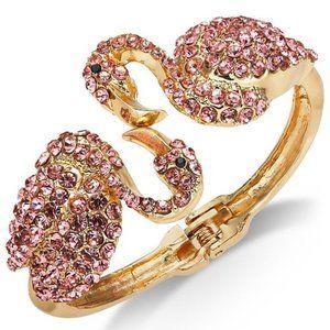 Thalia Sodi Pavé Flamingo Cuff Bracelet